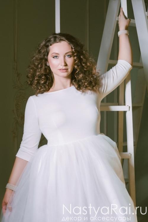 Свадебное платье для полных ZRM008