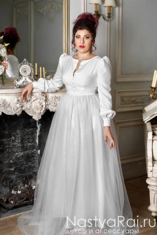 Свадебное платье с рукавами ZRM002