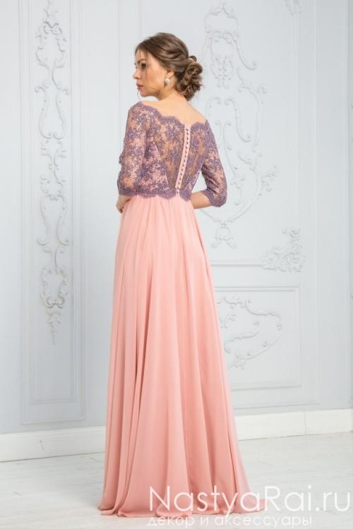 Длинное платье с кружевами ZEK019B