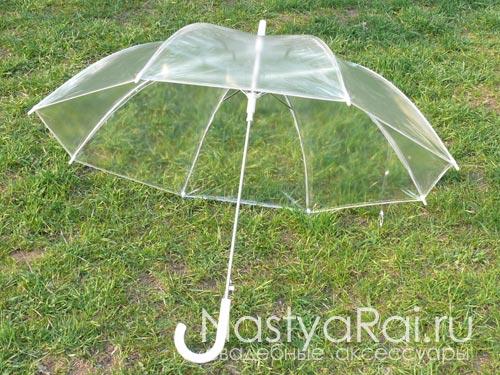 Прозрачный зонтик от дождя