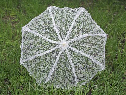 Кружевной зонт на свадьбу, айвори