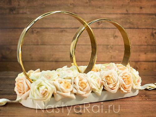 88f7e0428d6604 Свадебные кольца на машину для кортежа жениха и невесты