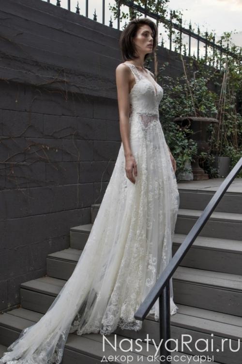 57ddf8616a4 ... Свадебное платье с кружевным шлейфом RIKI DALAL RD-209