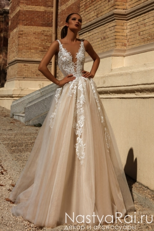 98f7c90b26521d7 Свадебное платье с открытой спиной ZVS001 ...