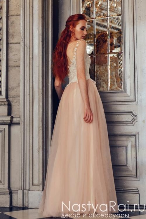 f5d49b6f5da Свадебное платье с открытой спиной ZVS001. Свадебное платье с кружевным  верхом ZWF014 ...