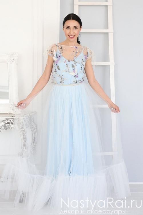 7edb17cba07 Свадебное платье с открытой спиной ZVS001. Вечернее платье из фатина  ZVB002B ...