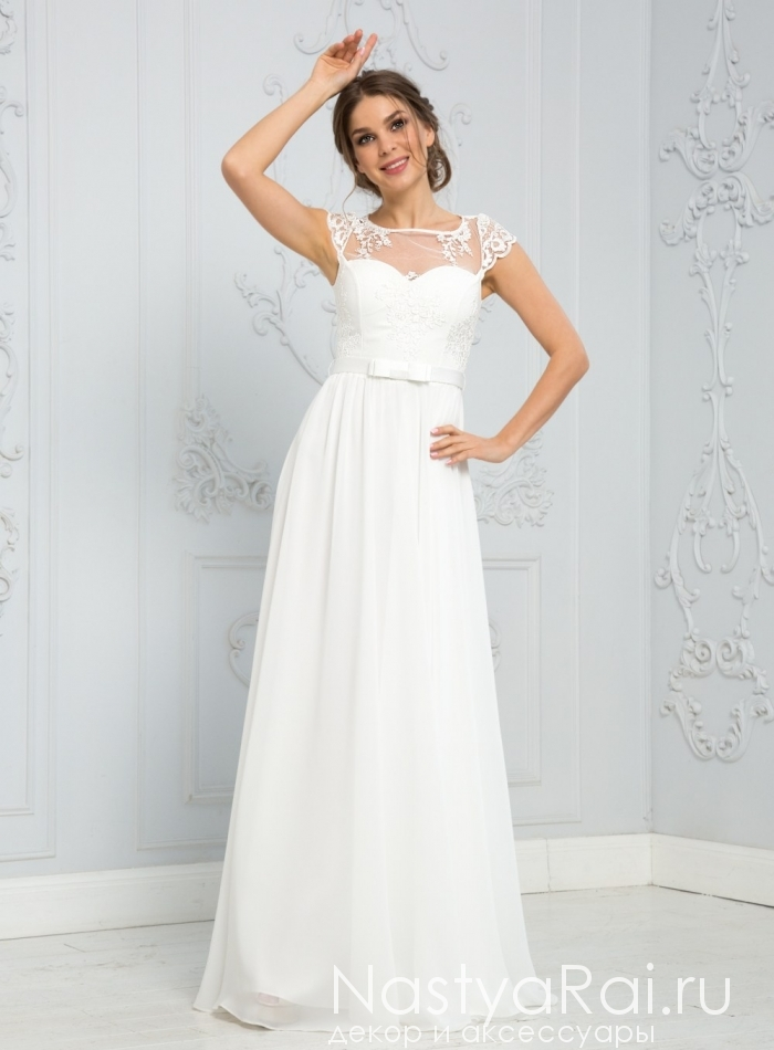fee05276615 Фото. Легкое белое платье в пол ZEK017B.