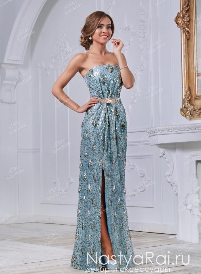 b5e49a6d105 Фото. Длинное платье с пайетками и разрезом сбоку TB023B.