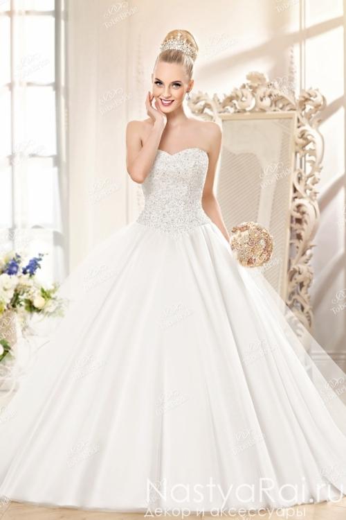 62153759e393e17 Свадебное платье со стразами и пайетками KP0088 ...