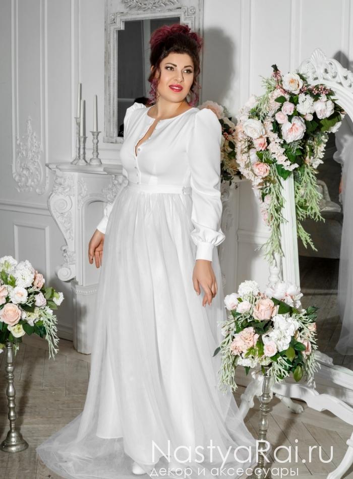 c71427f11ad Фото. Свадебное платье с рукавами ZRM002.